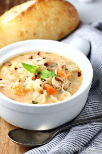 Creamy Italian Chicken Noodle Soup