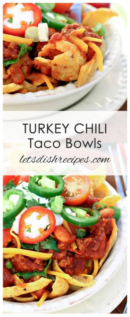 Turkey Chili Taco Bowls