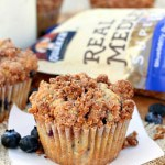 Blueberry Crunch Granola Muffins