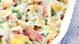 Cheesy Lemon Parsley Potatoes