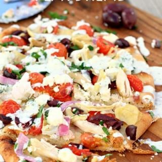 Greek Chicken Flatbread