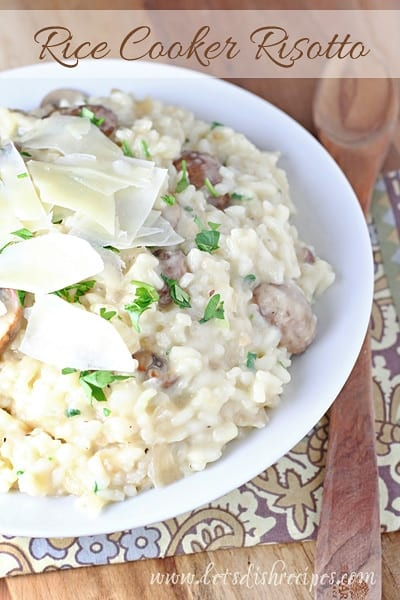 Rice Cooker Mushroom Risotto