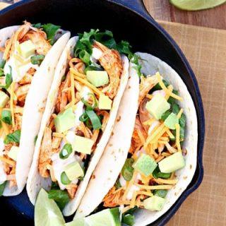 Easy Buffalo Chicken Tacos