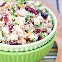 Bulgur Apple Salad with Cranberries and Almonds
