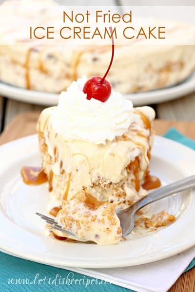 Not Fried Ice Cream Cake Let S Dish Recipes