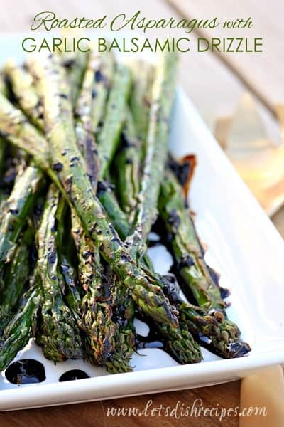Roasted Asparagus with Garlic Balsamic Drizzle