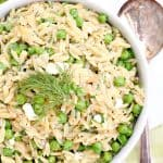 Spring Orzo with Lemon, Parsley and Peas