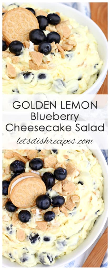 Golden Lemon Blueberry Cheesecake Salad
