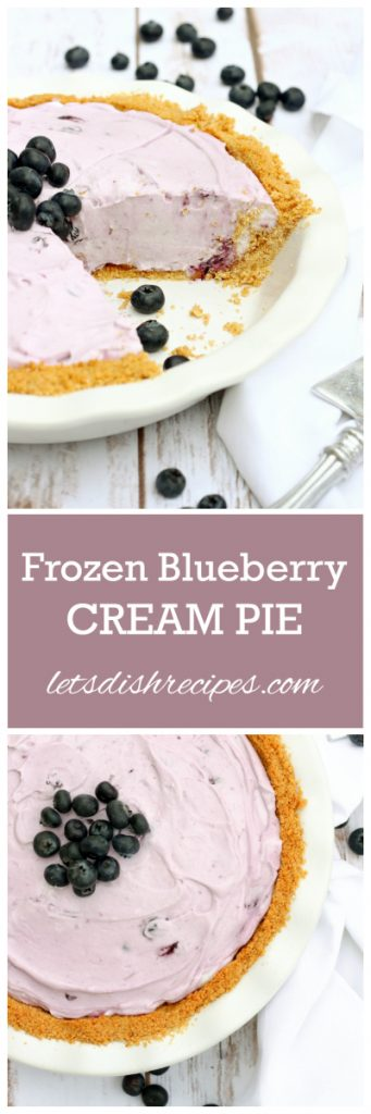 Frozen Blueberry Cream Pie