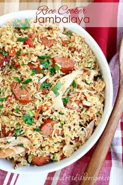 Rice Cooker Chicken and Sausage Jambalaya