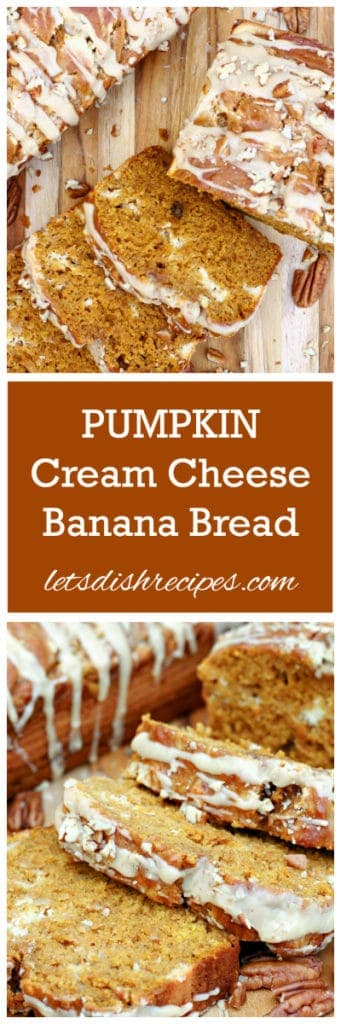 Pumpkin Cream Cheese Banana Bread