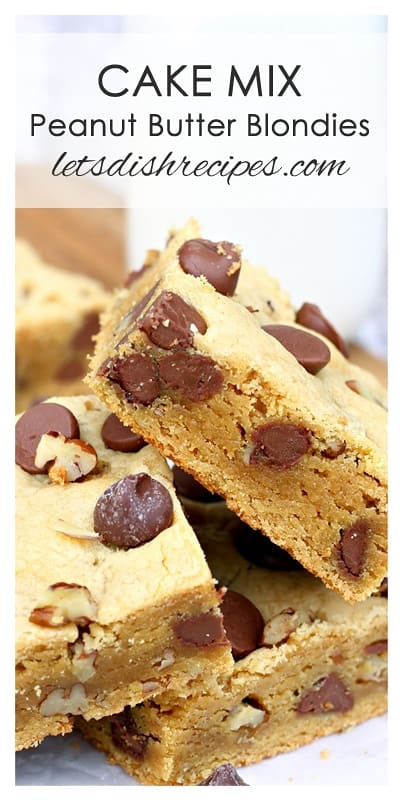 Cake Mix Peanut Butter Chocolate Nut Blondies Let S Dish