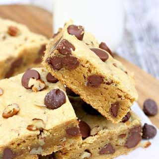 Cake Mix Peanut Butter Chocolate Nut Blondies
