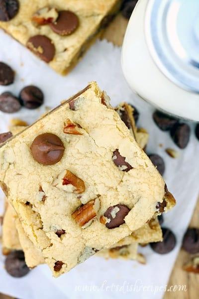 Cake Mix Peanut Butter Chocolate Nut Blondies