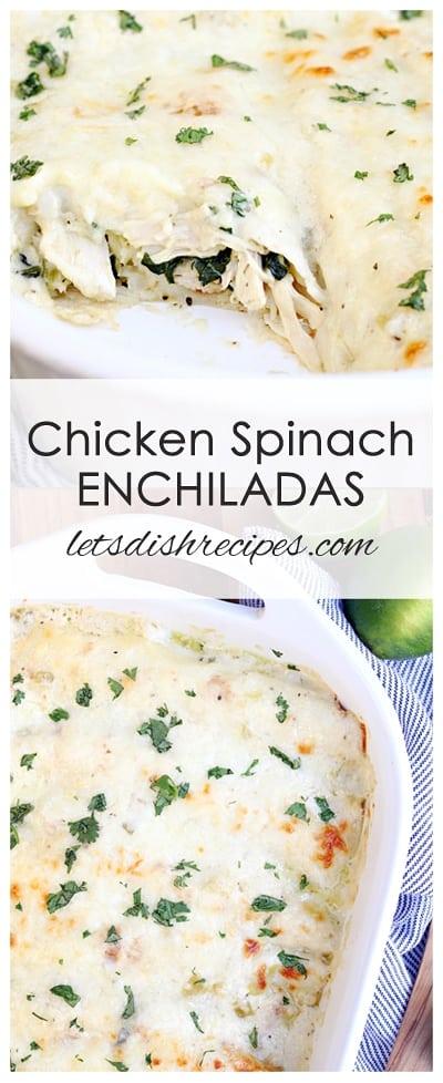 Chicken Spinach Enchiladas