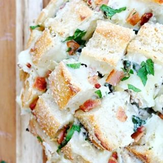 Spinach Artichoke Bacon Pull-Apart Bread