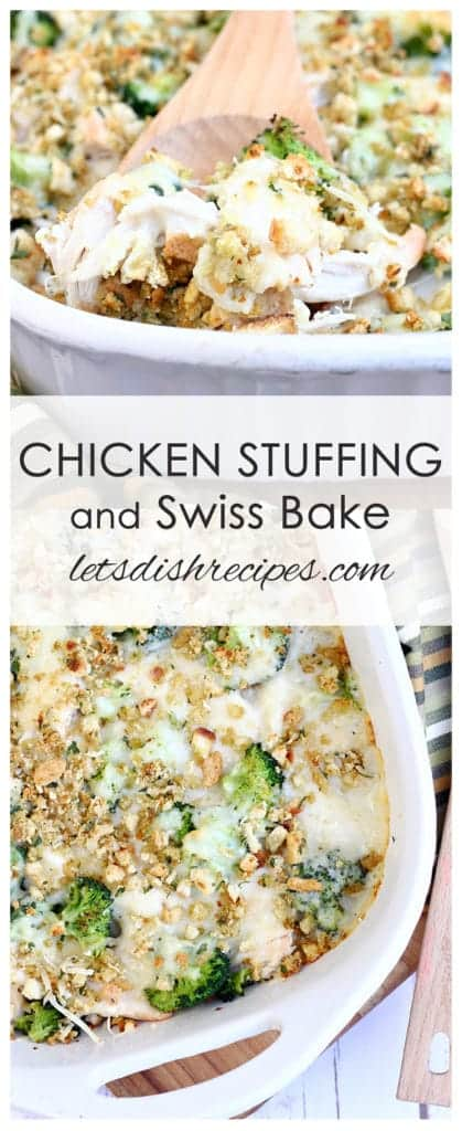 Chicken Stuffing and Swiss Bake