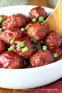 Quick Cranberry Glazed Meatballs