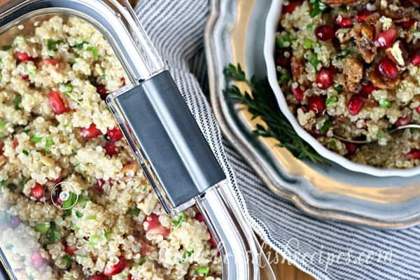 Quinoa Pomegranate Salad with Candied Pecans