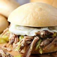 Slow Cooker Pepperoncini Beef Sandwiches