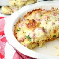 Ham and Swiss Croissant Bake