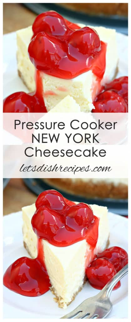 Pressure Cooker New York Cheesecake