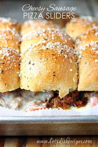 Cheesy Sausage Pizza Sliders