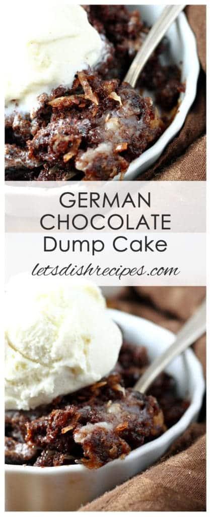 German Chocolate Dump Cake