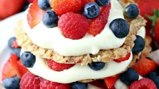 Berry Oatmeal Cookie Stacks