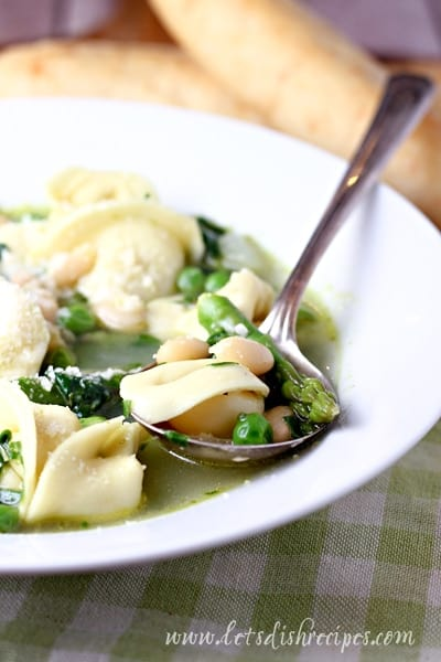 Spring Minnestrone with Tortellini