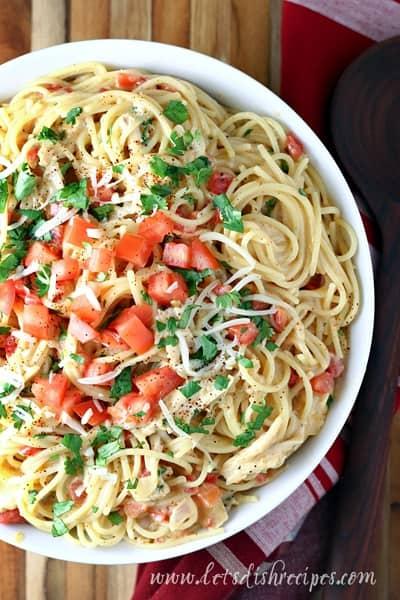 Tex Mex White Chicken Spaghetti
