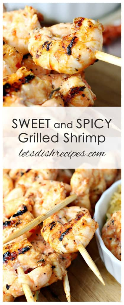 Sweet and Spicy Marinated Grilled Shrimp