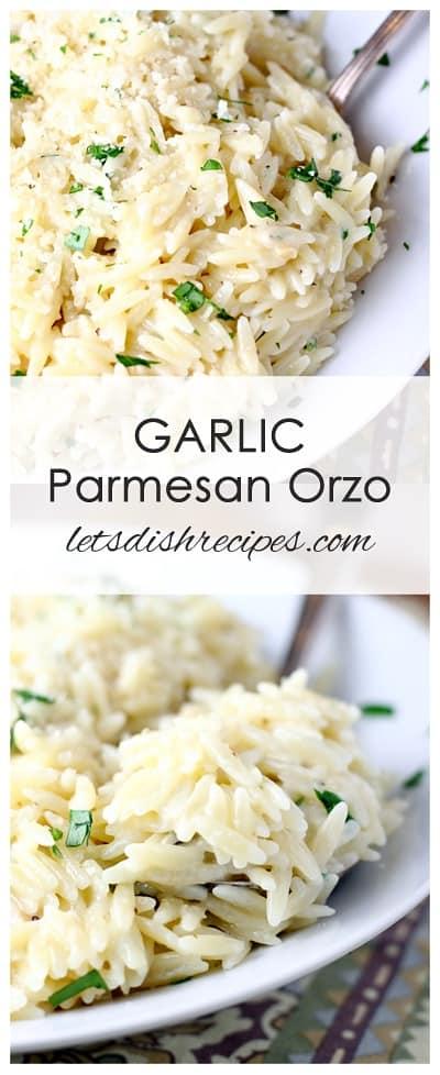 Garlic Parmesan Orzo