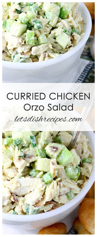 Curry Chicken Orzo Salad
