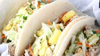 Slow Cooker Pineapple Green Chile Pork Tacos