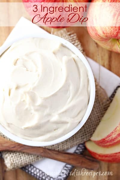 Three Ingredient Apple Dip