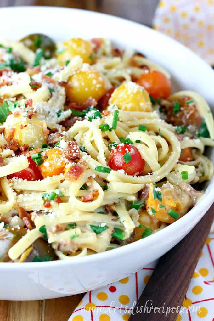 Tomato Bacon Carbonara