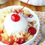 Tropical Cherry Pineapple Dump Cake
