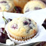Cherry White Chocolate Muffins