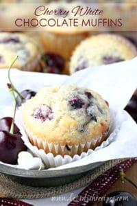Cherry White Chocolate Muffins