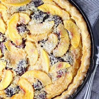 Blackberry Peach Buttermilk Pie