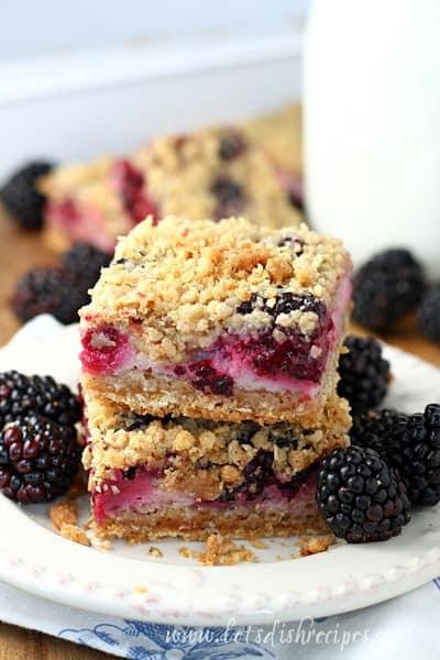 Blackberry Yogurt Oat Bars