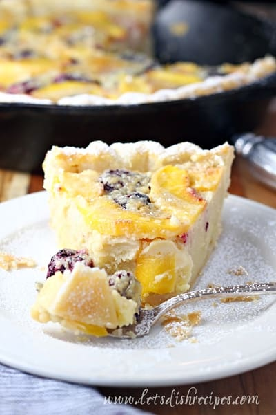 Blackberry Peach Buttermilk Pie