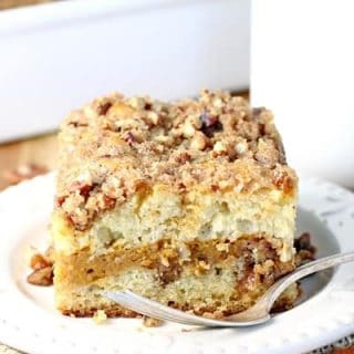 Pumpkin Swirl Sour Cream Coffee Cake