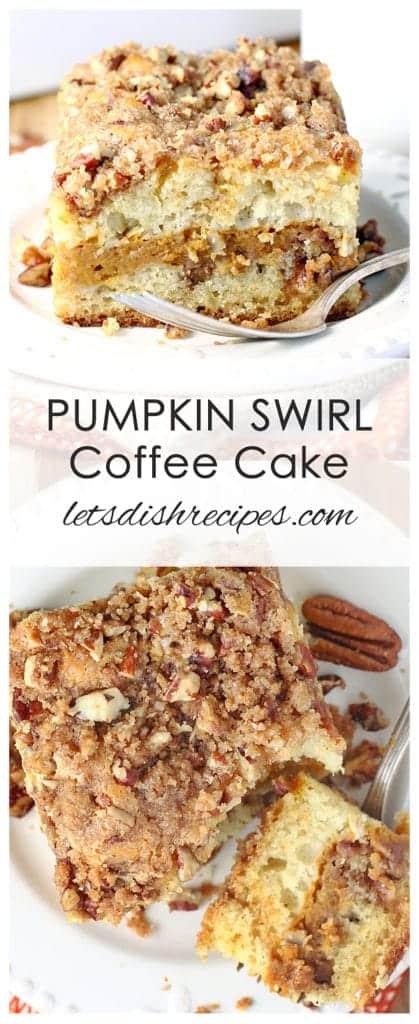 Pumpkin Swirl Sour Cream Coffee Cake
