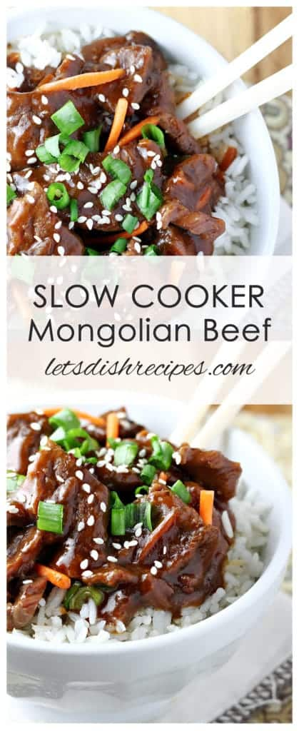 Easy Slow Cooker Mongolian Beef