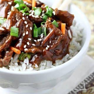 Easy Slow Cooker Mongolian Beef