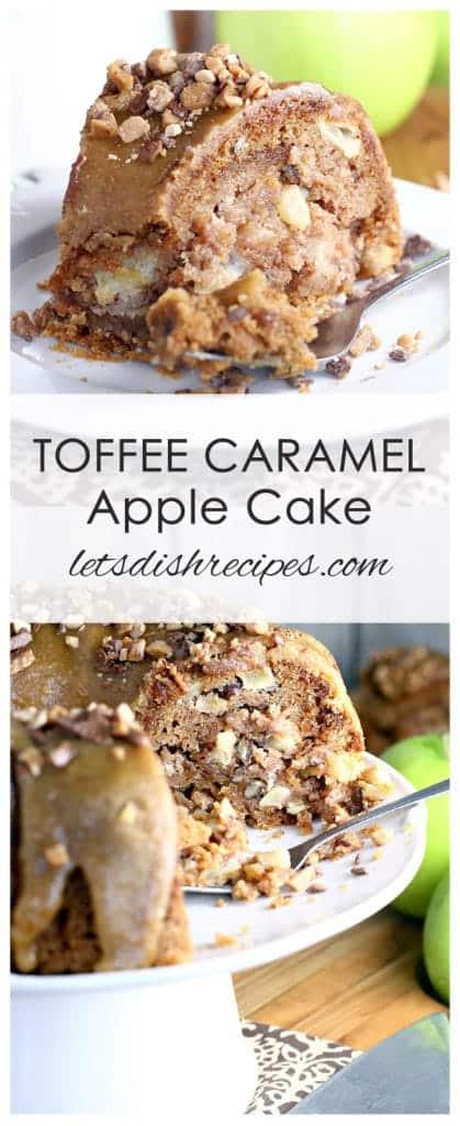 Toffee Caramel Apple Bundt Cake