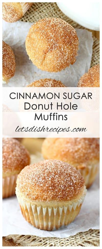 Cinnamon Sugar Donut Hole Muffins