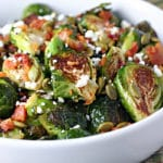 Roasted Brussels Sprouts with Pumpkin Seeds and Bacon